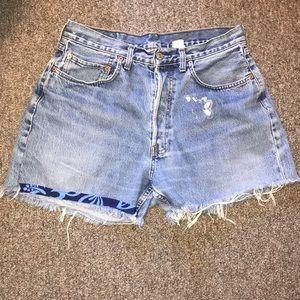 Vintage Levi's DIY shorts